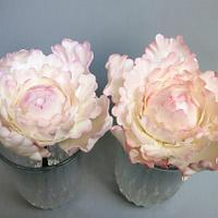 Peony sugar flowers