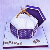 diamond ring cake