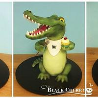 Colin the Crocodile Cake