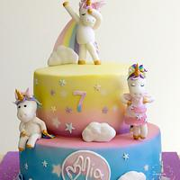 Unicorn Disco Party Cake