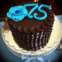 75th Birthday Petal Cake