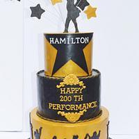 Hamilton's 200th Performance Cake!