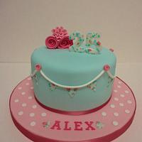Cath kidston style birthday cake