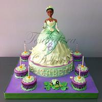 Tarta Princesa Tiana y el sapo