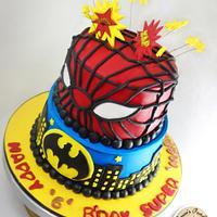 SUPER HERO THEMED BIRTHDAY CAKE
