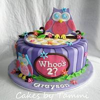 Owl Blossom by Cakes by Tammi