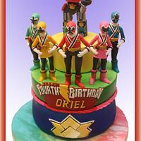 Power Ranger Samurai-themed Birthday Cake