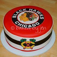 Chicago Blackhawks Birthday Cake