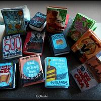Handpainted Books Cupcakes