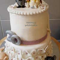 Bridecake whit 2 sites.
