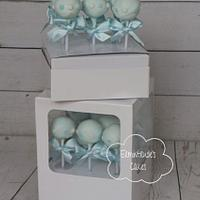 Christening cake pops for boys