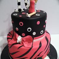 Zebra gymnastics cake by Skmaestas