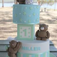 Miller's first birthday cake
