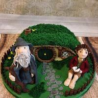 The hobbit hole cake