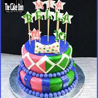 The 2 BIRDS WITH 1 STONE birthday cake