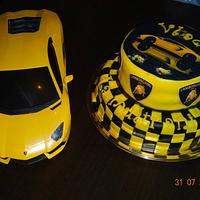 Lamborghini Themed Cake