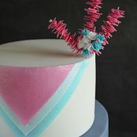 Wafer Paper Loops Cake by Sylvia Elba sugARTIST