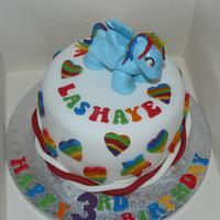 my little pony mini cake with rainbow dash