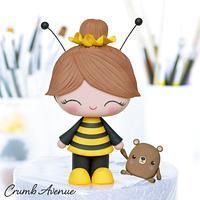 Bee Girl Cake Topper