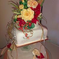 Donna's Hummingbird Wedding cake