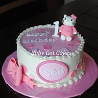 Hello Kitty 1st Birthday by Baby Got Cakes