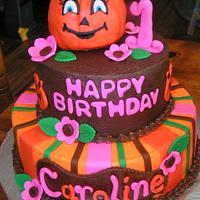 Pumpkin for Caroline's 1st
