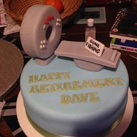 CT scanner cake