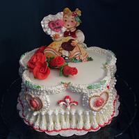Victorian Valentine Cake