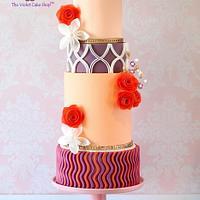 MODERN DECOR Inspired Wedding Cake for Cake Masters Magazine
