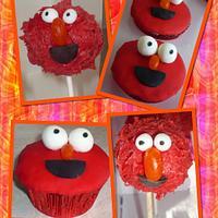Elmo cupcakes & cake pops