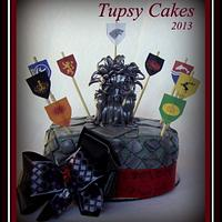 game of throne cake by tupsy cakes