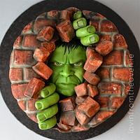 Hulk Smash Cake.
