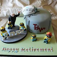 Gru Retirement Cake