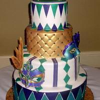 Sweet 16 Masquerade Birthday Cake
