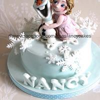Olaf and birthday girl