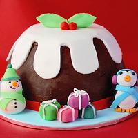 Large Choc Xmas Pudding Cake