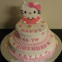 Hello Kitty Birthday Cake by Annette Colon
