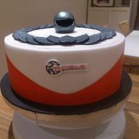 Motor racing cake