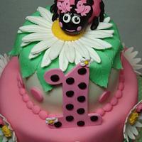 Ladybug Cake & Cupcake Tower