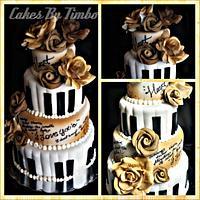 """The Poet & The Pianist"" Wedding Cake! by Timbo Sullivan"