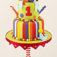 Bright First Birthday Cake