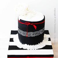 Black white cake