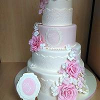 Wedding cake and cookies