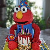 """Elmo"" Icing Smiles Cake"