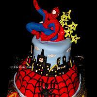 Spiderman cake for my nephew