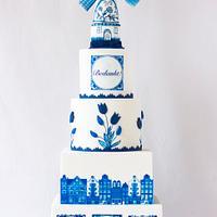 Delft blue cake