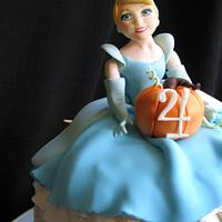 Cinderella 4th Birthday Cake