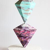 Geode Marbled Crystal Cake