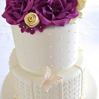 Purple Roses and Hearts
