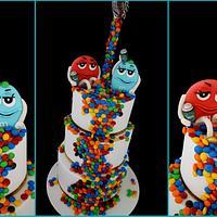 M&M 21st Birthday cake